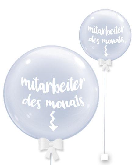 Bubble Ballonkugel Orbz Mitarbeiter des Monats Kollege personalisiert beschriftet Firma