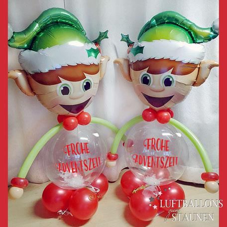 Luftballon Dekoration Weihnachten Weihnachtszeit Christmas Ballon Weihnachtswichtel Wichtel Frohe Adventszeit