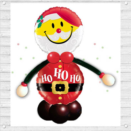 Folienballon Luftballon Dekoration Weihnachten Weihnachtszeit Christmas Ballon Nikolaus Ho HO HO Geldgeschenk
