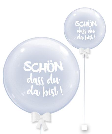 Bubble Ballonkugel Orbz Schön dass du da bist Kollege personalisiert beschriftet Firma