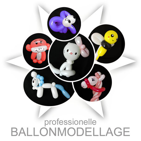 Luftballonmodellage Lustige Face-Bodypainting.de Aktion Ballonfiguren Ballontiere Promotion Ballon modellieren Einhorn Pferd Affe Kätzchen Biene Katze Elefant Blume Attraktion Event Party Kinder Unterhaltung Ballon Modellage