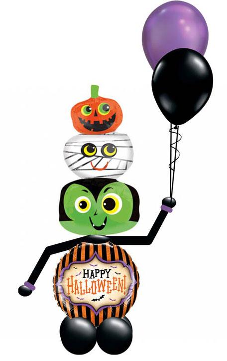 Folienballon Luftballon Ballon Happy Halloween Monster Bouquet Strauß Überraschung Mitbringsel Versand Helium Männchen Kürbis Gespenst Vampir Dracula