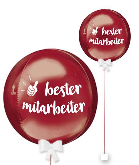 Bubble Ballonkugel Orbz bester Mitarbeiter Kollege personalisiert beschriftet Firma