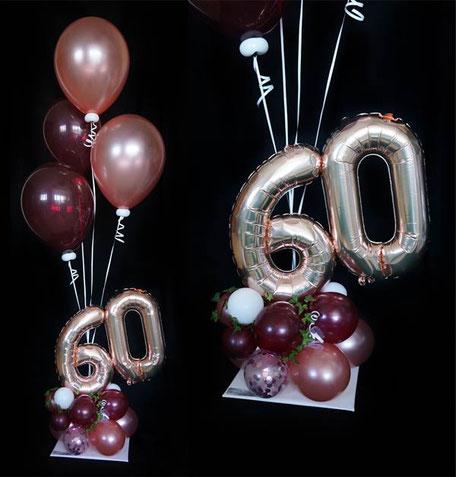Ballon Luftballon Heliumballon Ballonbouquet Bouquet Strauß Geschenk Geburtstag Deko Dekoration 20 30 40 50 60 70 80 90 100 Zahl Alter Überraschung Versand Organic Style Glitter Efeu
