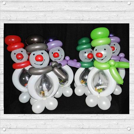 Luftballon Dekoration Weihnachten Weihnachtszeit Christmas Ballon Schneemann