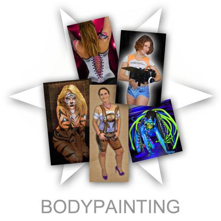 Bodypainting Körperbemalung Aktion Firma Firmenevent Sommerfest Event  Promotion professionell Stand Attraktion Party Werbung Logo Firmenlogo