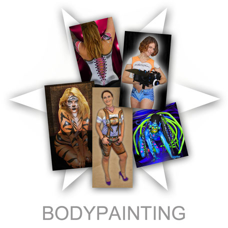 Bodypainting Körperbemalung Face-Bodypainting.de Aktion Firma Firmenevent Sommerfest Event  Promotion professionell Stand Attraktion Party Werbung Logo Firmenlogo