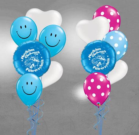 Folienballon Luftballon Ballon Alles Gute zum Führerschein bestanden Herzlichen Glückwunsch Mädchen Junge Frau Mann Bouquet Strauß Überraschung Mitbringsel Versand Helium