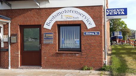 Das neue Bürogebäude von Bootsmotorenservice Peter Pauls