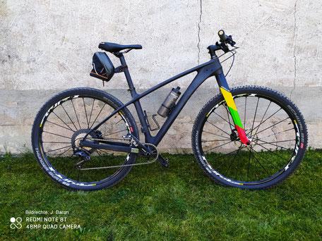 Carbon Gabel Starrbike MTB mit Lightcarbon Gabel Bildrechte J Baron