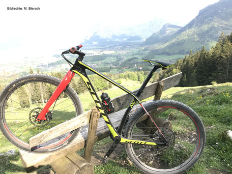 Scott Carbon Gabel Hardtail Bildrechte: M. Blersch