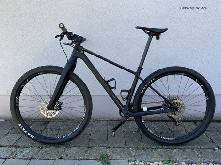 Canyon Carbon Gabel Starrbike Carbon Hardtail Bildrechte W. Abel