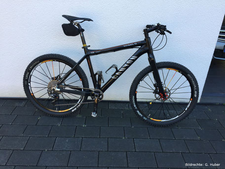 Canyon Carbon Bike mit Carbon gabel XTR 1x11 schwarz
