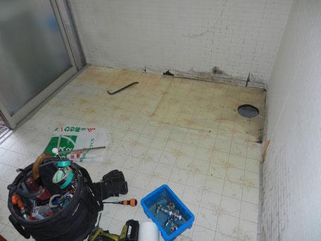 脱衣室:施工前の画像