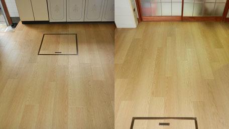 ダイニングキッチン床改修工事の画像