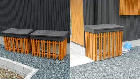 エアコン室外機カバー施工の画像