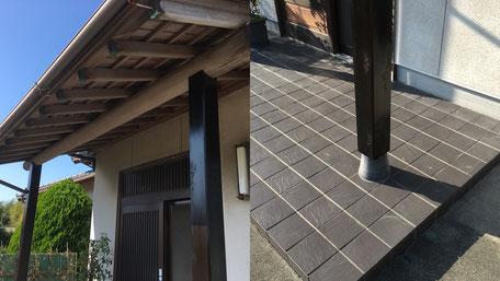 玄関ポーチ柱取替工事の画像