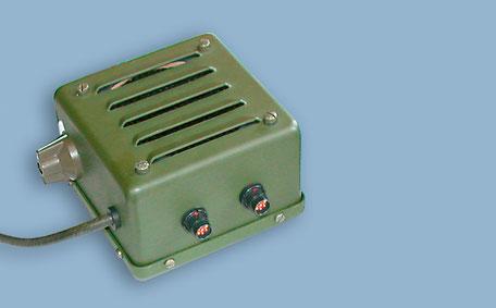 Lautsprecher im stabilen, spritzwassergeschützen Metallgehäuse