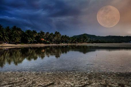 Vollmond am Hin Kong Beach -Koh Phangan