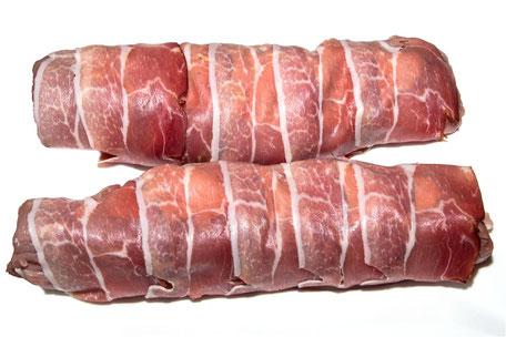 Schweinefilet im Speckmantel-roh