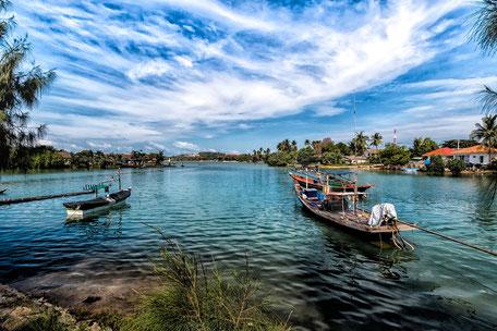 Boote am Big Buddha Place-Koh Samui