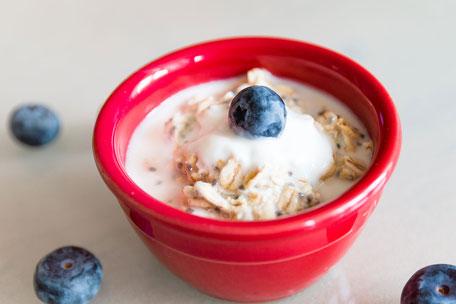 Porridge in roter Schale
