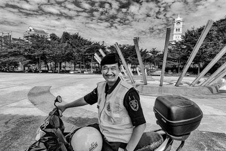 hafen-polizei-penang-malaysia-monochrome