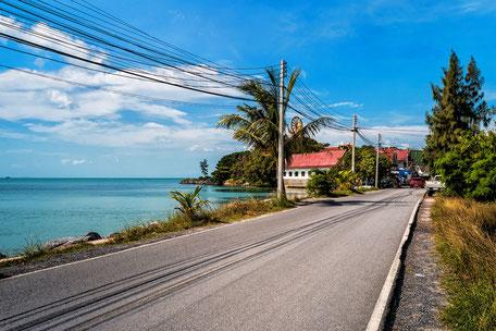 Strasse zum Big Buddha Place auf Koh Samui © mjpics