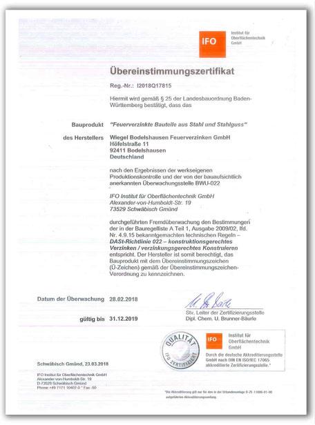 Metallbau Vogler Zertifikat EN 1090