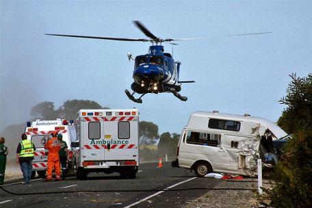 Unfall mit dem Wohnmobil, gut versichert mit einer CDW-Versicherung der ERGO bei Unfallschäden