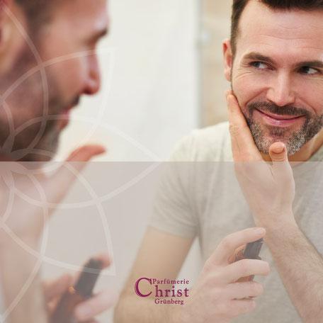Face & Body Behandlung fuer Maenner in der Parfuemerie Christ in Gruenberg