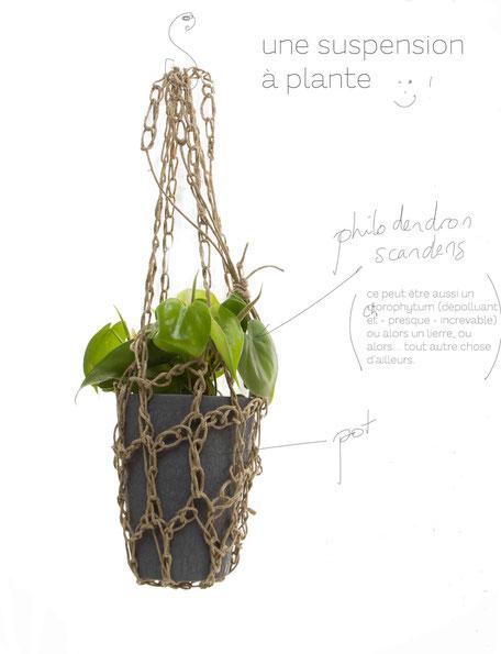 johanne gicquel artiste auteure nature bretagne crea suspension en crochet