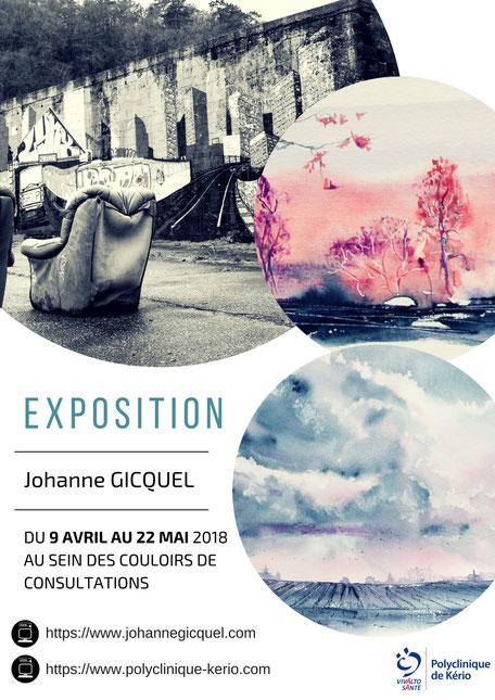 une exposition entre photo et peintures dans la Bretagne des Terres (affiche pour l'expo de fin 2017, qui sera donc revue)