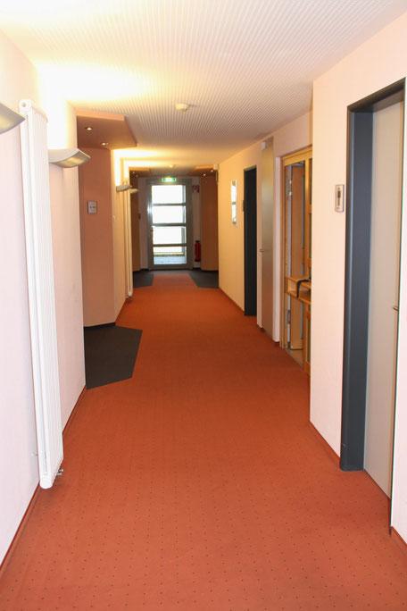 Eingang zu den Zimmern