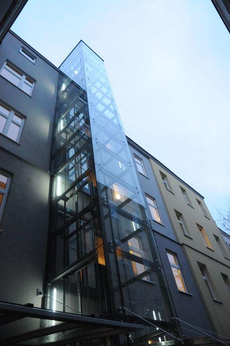 Aufzugzzubau Architektin Lehner