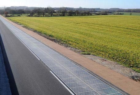Ertse Solarstraße Europas in Frankreich