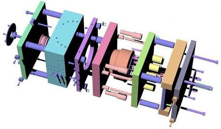 Разработка, проектирование и изготовление пресс-форм для литья пластмасс и цветных металлов под давлением.