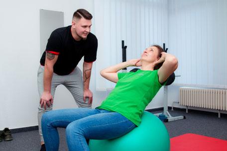 Praxis für Physiotherapie - Training mit Pezzibal