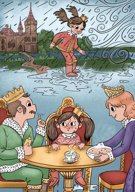 Maike Kliche Kinderbuchillustration Prinzessin Illustration Kinderbuch