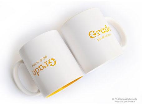 Mug in ceramica  personalizzata con incisione del logo
