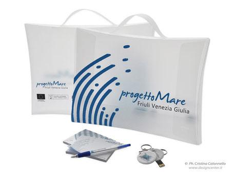 cartellina usb post-it penna biro personalizzati Progetto Mare FVG