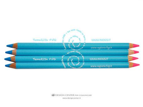matita evidenziatore a 2 punte personalizzata con logo ad 1 colore a 360°