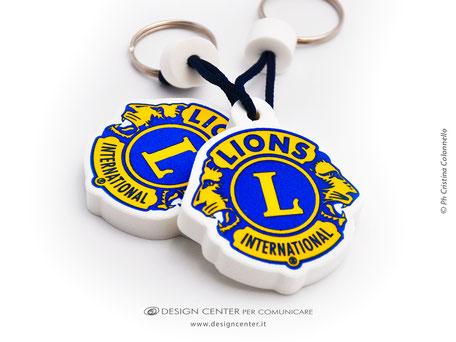 Portachiavi in eva sagomato Lions Club e personalizzato a colori