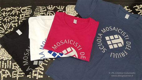 T-shirt personalizzate Scuola Mosaicisti del Friuli di Spilimbergo Città del Mosaico, PN