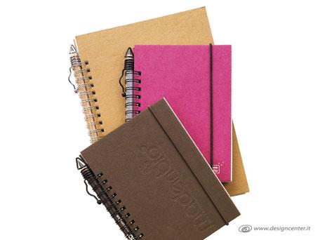 Notebook con elastico - Note book  copertina  a colori  - copertina colorata
