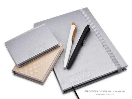 Taccuini con copertina metallizzata Argento e Oro - tailor made