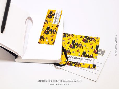 Segnalibro magnetico e cartoline personalizzate Bibliteca civica Hortis - Trieste