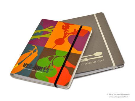 Notebook, quaderno copertina rigida con stampa - chiusura elastico