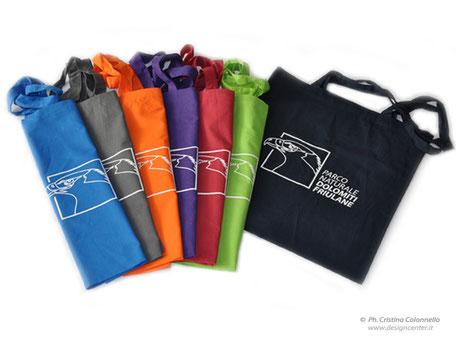 Shopper in cotone colorato personalizzate con logo Parco Dolomiti Friulane