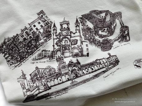 Particolare t-shirt  d'artista - Disegno Tresoldi